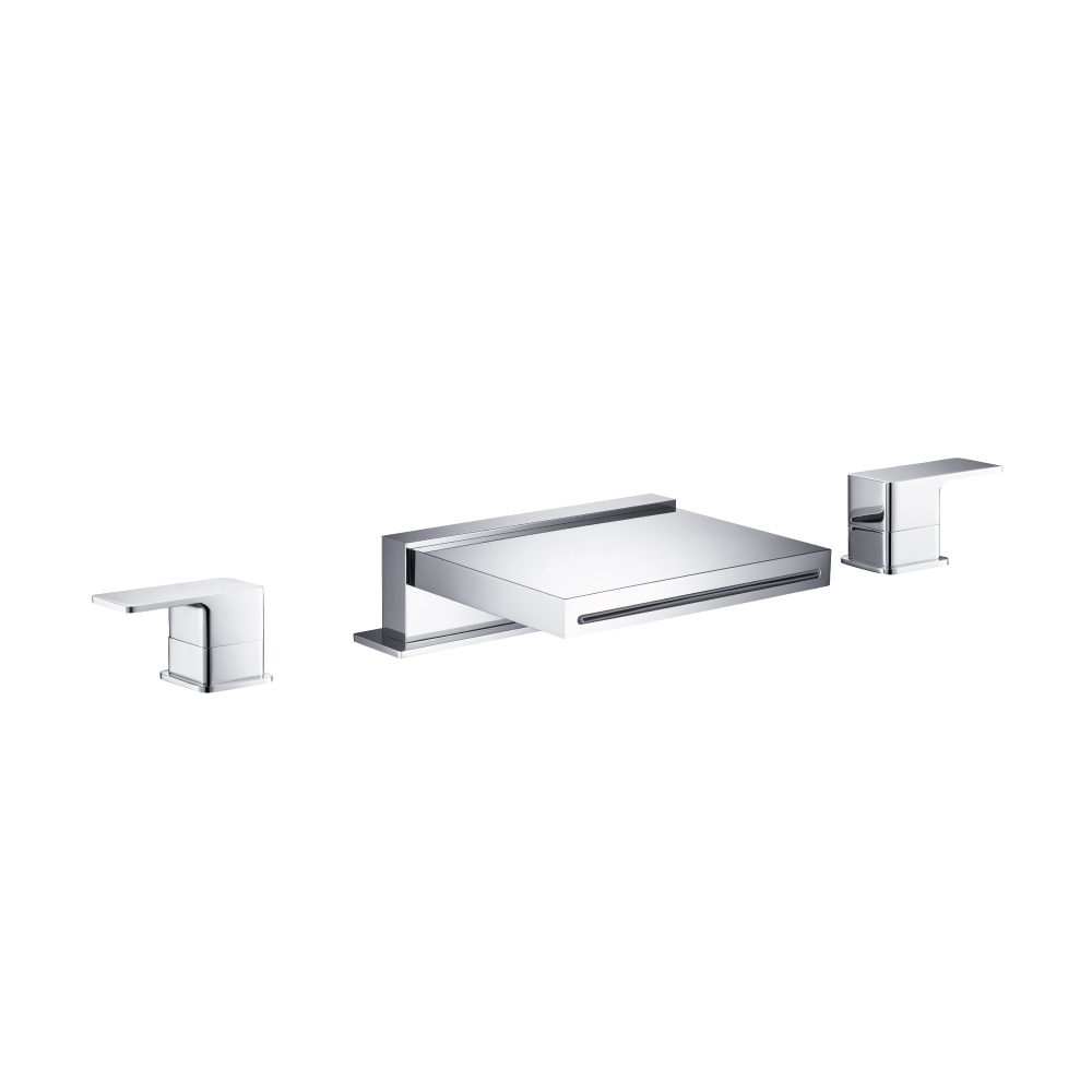 deck mount water fall tub faucet