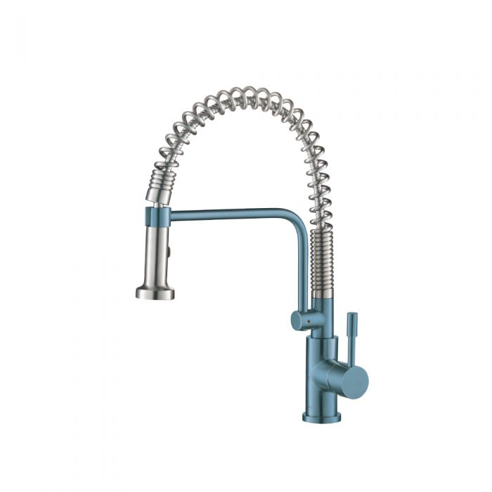 Blue Kitchen Faucet with spring