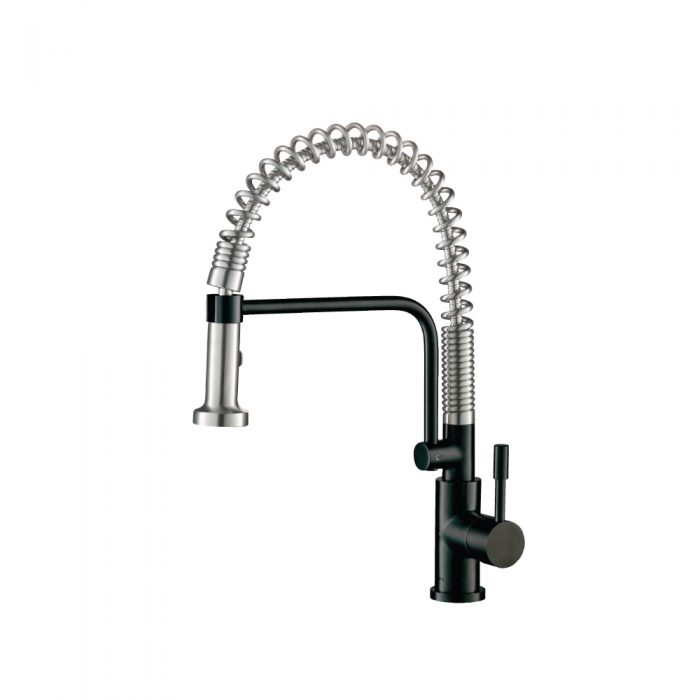 Matte Black Kitchen Faucet with spring