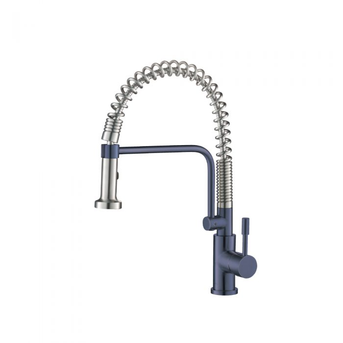 Navy Blue Kitchen Faucet with spring