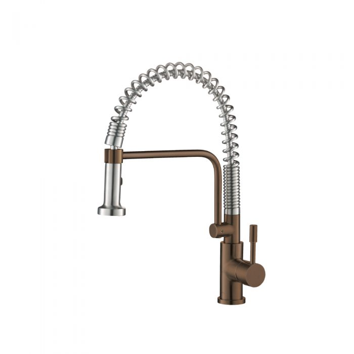 Rust Brown Kitchen Faucet with spring