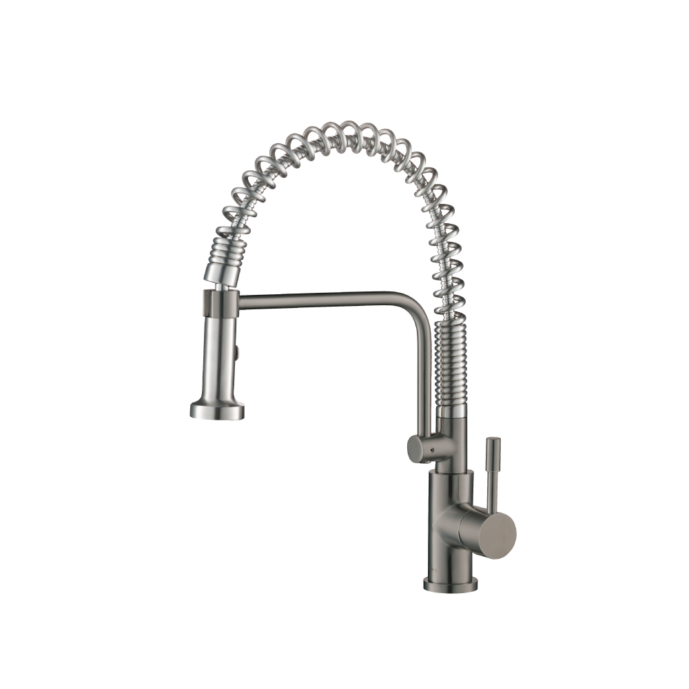 Steel Grey Kitchen Faucet with spring