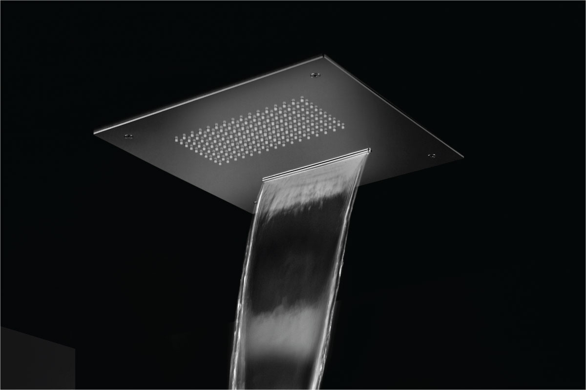 sheet flow shower head