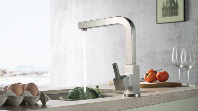 square kitchen faucet
