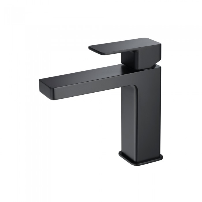 matte black single hole faucet
