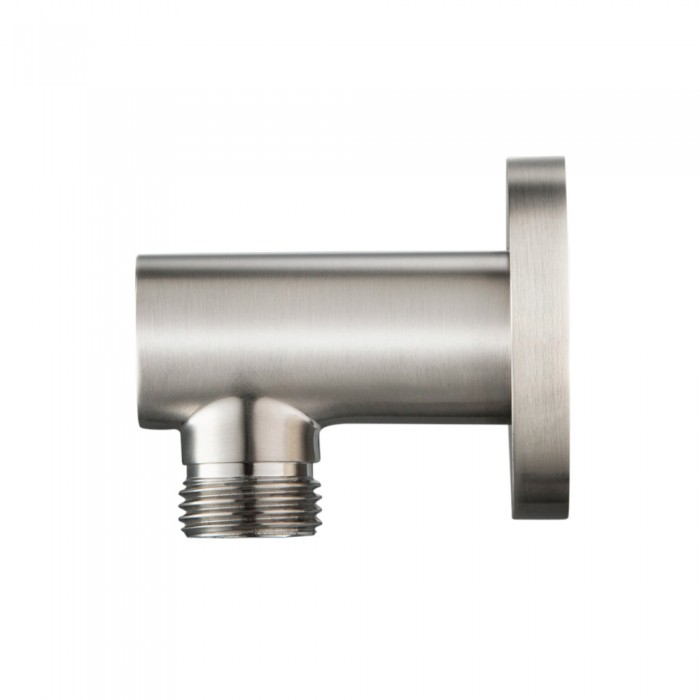 modern round wall supply elbow brushed nickel