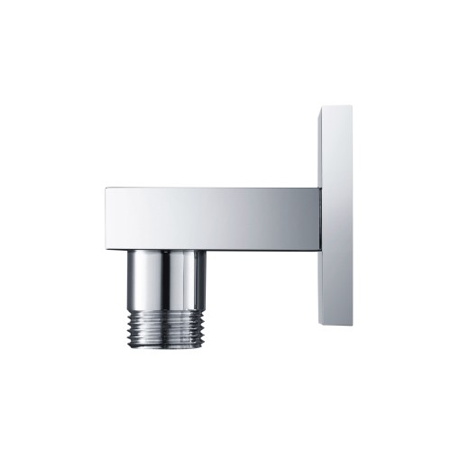 chrome modern square wall supply elbow