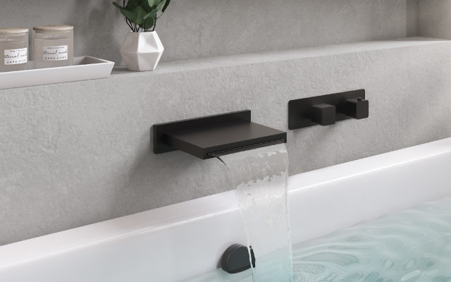 high flow volume tub faucet