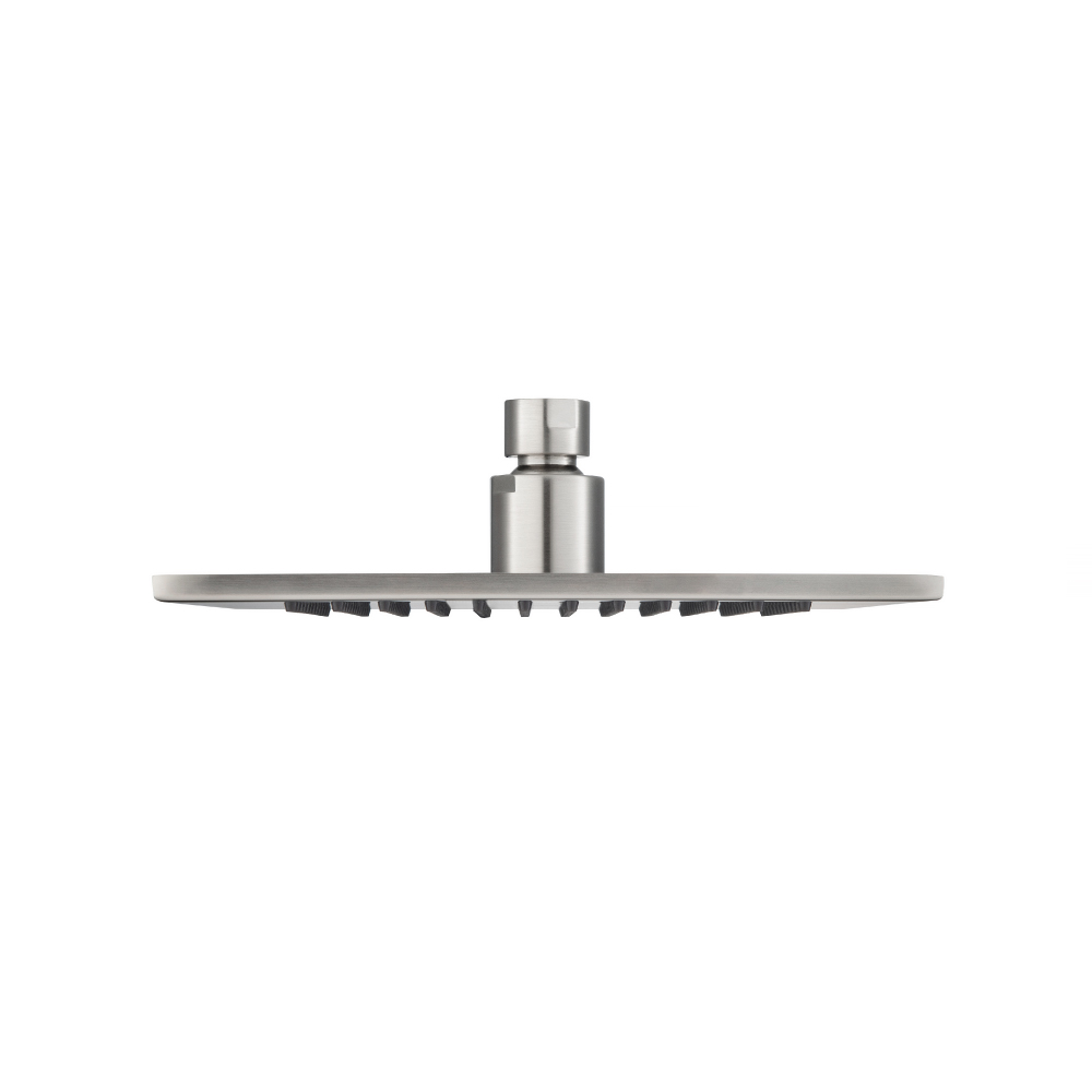 """8"""" Square Brass Shower head brushed nickel"""