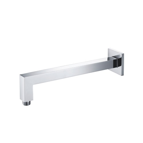 Square wall mount shower arm 12 Inch chrome
