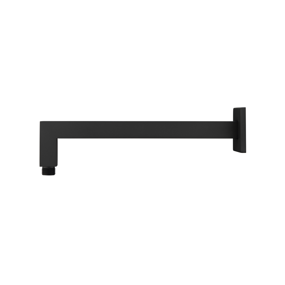 Square wall mount shower arm 12 Inch matte black