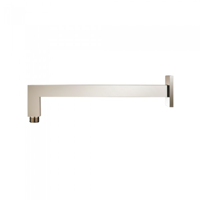 Square wall mount shower arm 12 Inch polished nickel