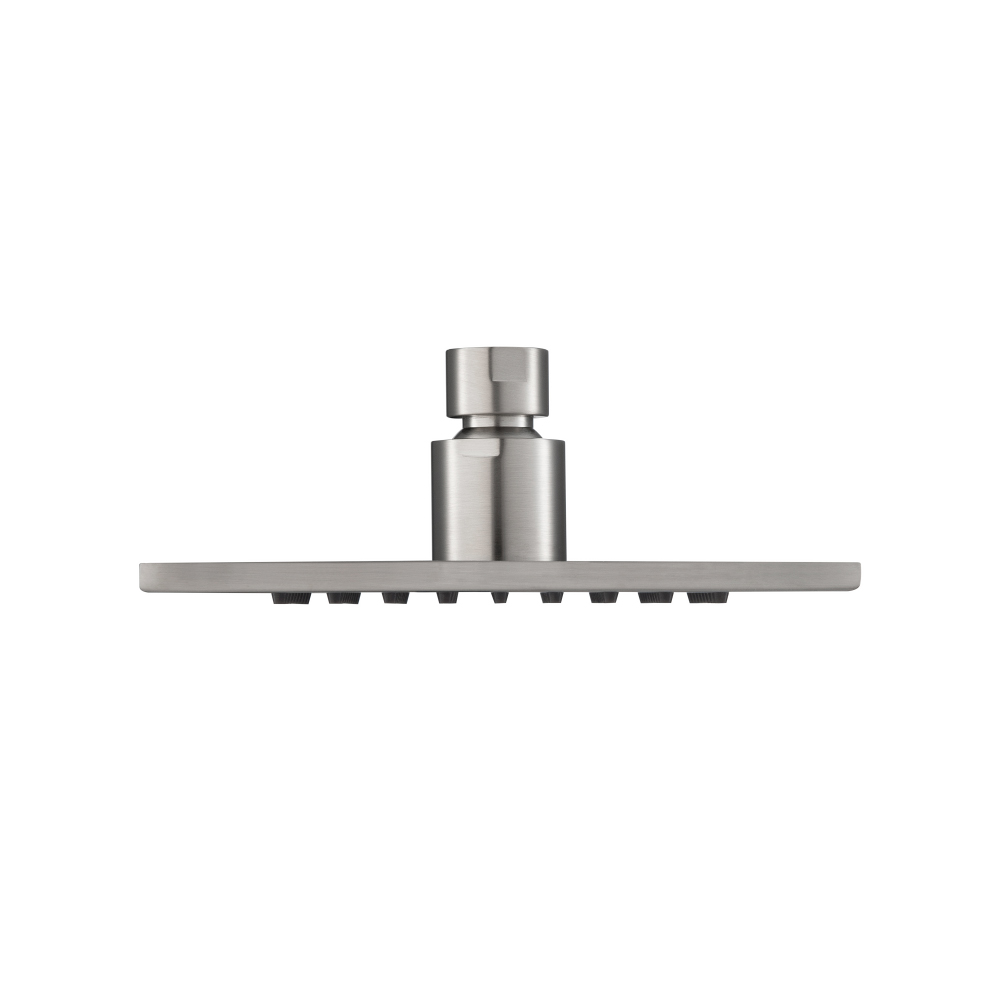 6 Inch Solid Brass Rain head - brushed nickel