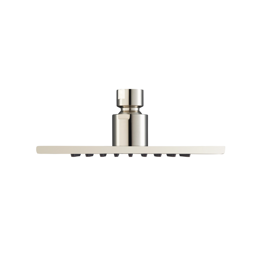 6 Inch Solid Brass Rain head - polished nickel