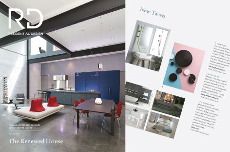 Residential Design Magazine Features Infinity Faucet
