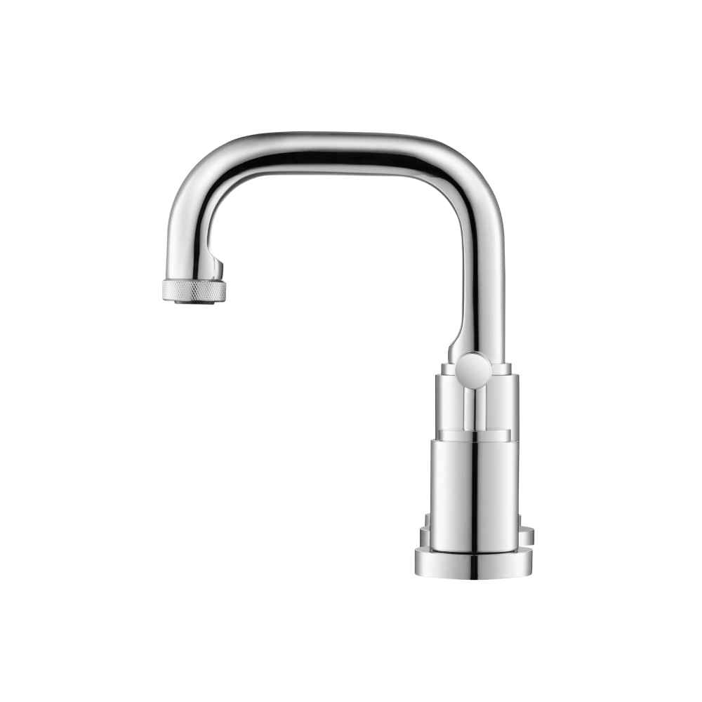 industrial sink faucet with knurling chrome