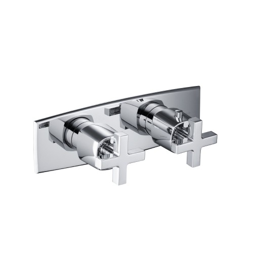 high flow horizontal thermostatic valve