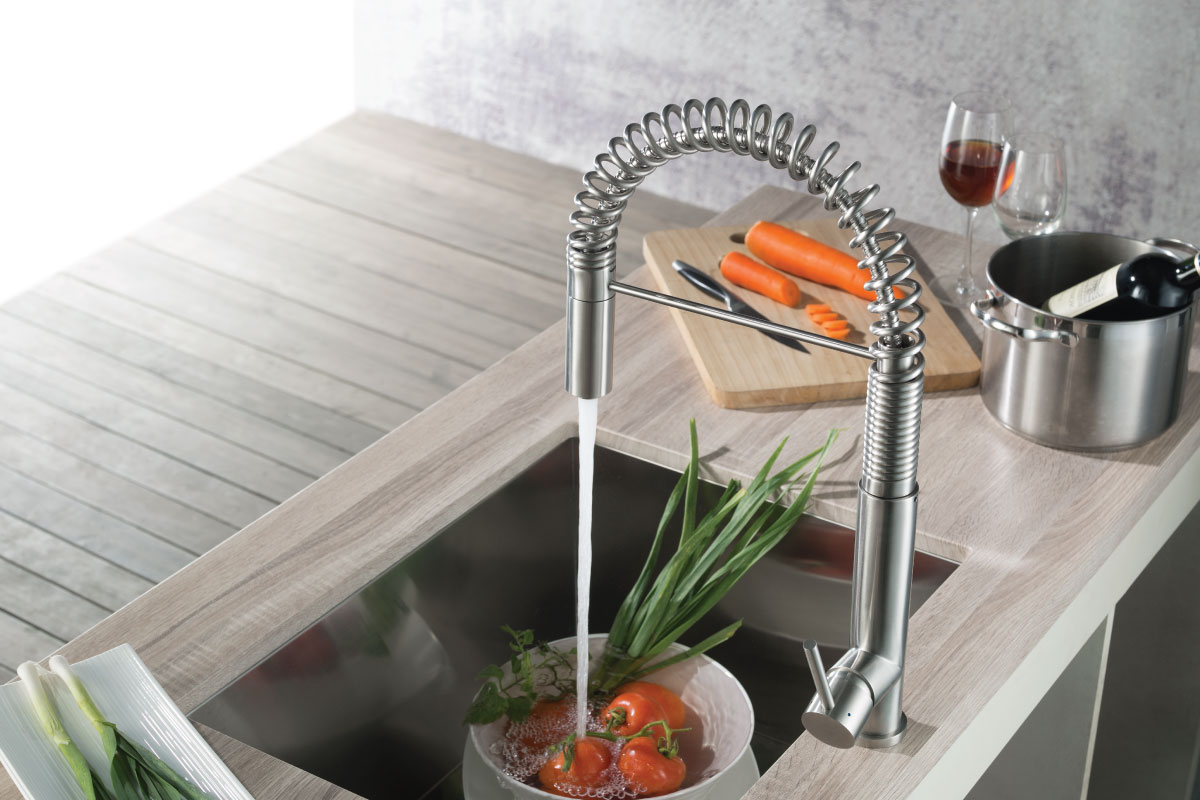 K.1230 Stainless Steel Kitchen Faucet