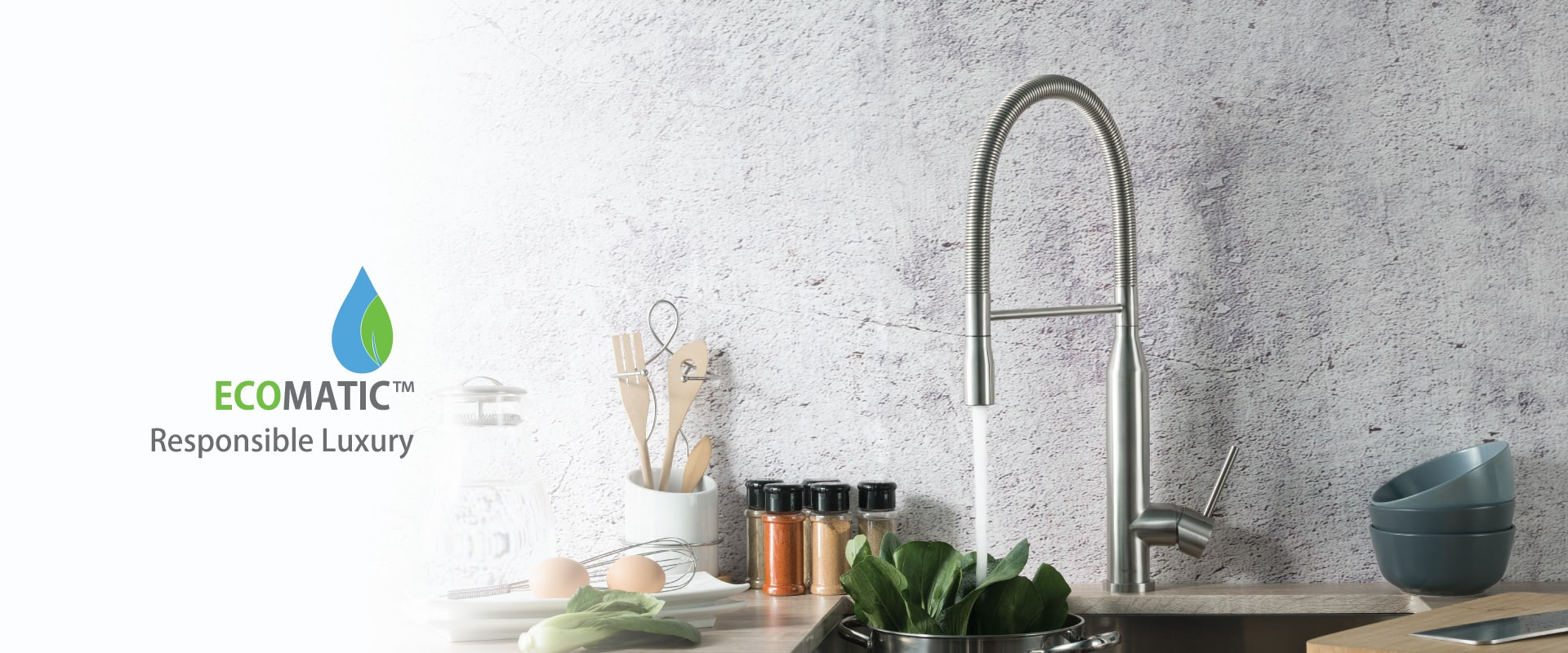 sleek tall kitchen faucet